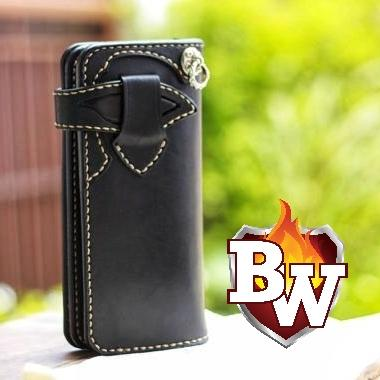 """Smooth Ride"" 8"" Leather Handmade Redmoon Leather Biker Wallet"