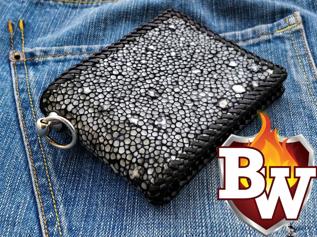 """The Star"" 5 inch Custom Biker Wallet"