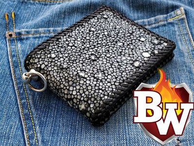 The Star 5 inch Custom Biker Wallet | Custom Handmade Men's Leather Wallets at Biker-Wallets.com
