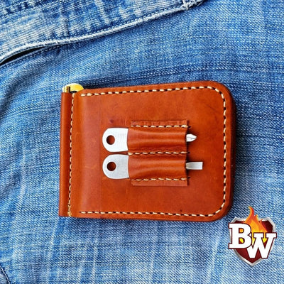 Swiss Army Front Pocket 5-inch Wallet | Custom Handmade Men's Leather Wallets at Biker-Wallets.com