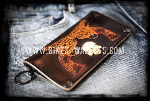 """The Duel"" 7"" Custom Handmade Biker Trucker Wallet"