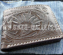 """The West Brown"" 4"" Custom Handmade Leather Biker Wallet - Biker Wallets"