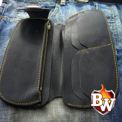 Tommy 8-inch  Leather Men's Biker Wallet | Custom Handmade Men's Leather Wallets at Biker-Wallets.com