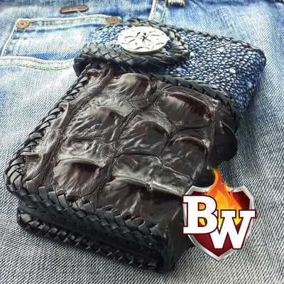 Red Two Tone 6-inch  Men's Biker Chain Wallet | Custom Handmade Men's Leather Wallets at Biker-Wallets.com