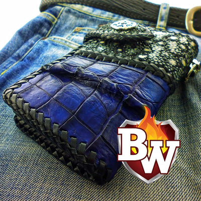 Brown Two Tone 6-inch  Men's Biker Chain Wallet | Custom Handmade Men's Leather Wallets at Biker-Wallets.com