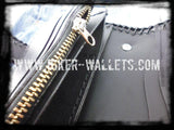 """Two Tone"" 6"" Custom Handmade Men's Biker Chain Wallet"
