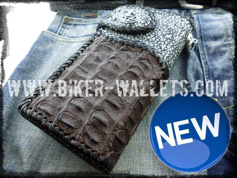 Two Tone 8 Custom Handmade Men's Biker Chain Wallet - Handcrafted Quality Genine Leather Backed by a 5-Year Warranty - Biker-Wallets.com