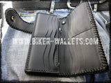 """Two Tone"" 8"" Star Stingray and Crocodile Custom Handmade Men's Biker Wallet"