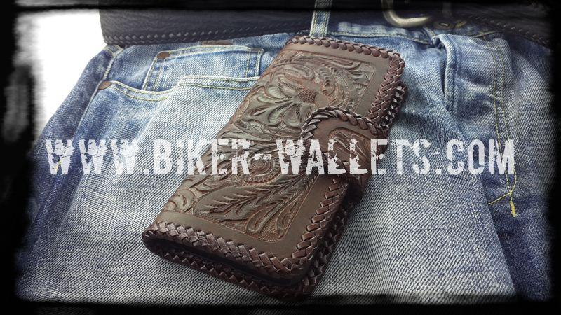 """Western"" Brown Cell Phone iPhone Leather Hand Tooled Cellphone case"
