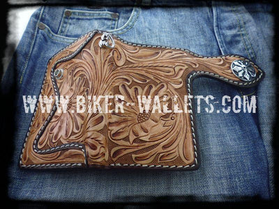 Western Rider Pip Squeek 6-inch Leather Men's Biker Wallet | Custom Handmade Men's Leather Wallets at Biker-Wallets.com