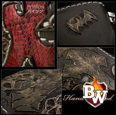 Whiplash 8-inch  Men's Biker Chain Wallet | Custom Handmade Men's Leather Wallets at Biker-Wallets.com