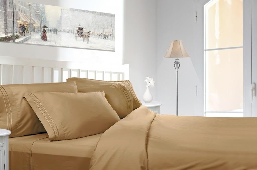 King Size Luxury Bed Sheet Set. Highest Quality 1800 Thread Count Linens.  Reg $119