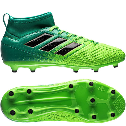 Adidas Jr. ACE 17.3 FG/AG Turbocharge - Solar Green/Core Black - We Are Soccer Inc.