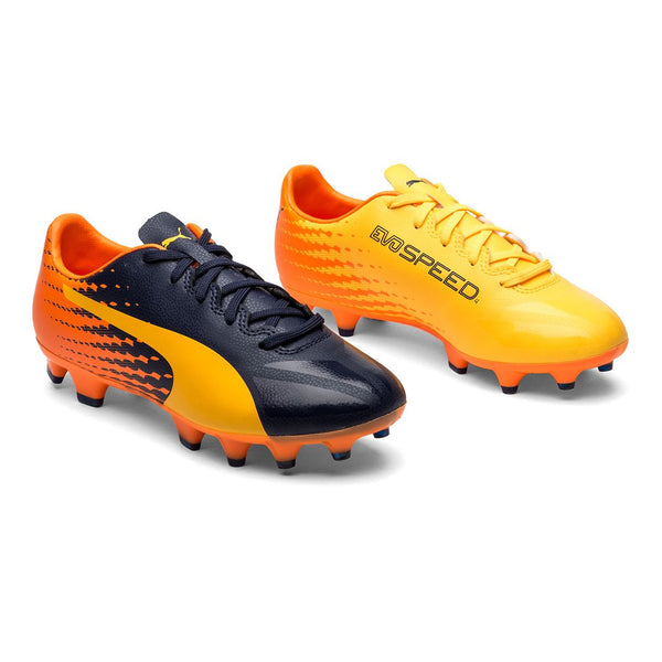 Puma evoSPEED 17.4 FG(Ultra Yellow/Peacoat/Orange Clownfish)
