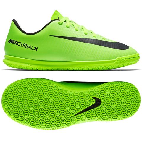 Nike Jr. Nike Mercurial Vortex IC - Electric Green/Black - We Are Soccer Inc.