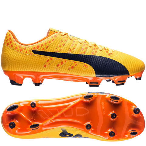 Puma evoPOWER Vigor 4 FG(Ultra Yellow/Peacoat/Orange Clownfish)