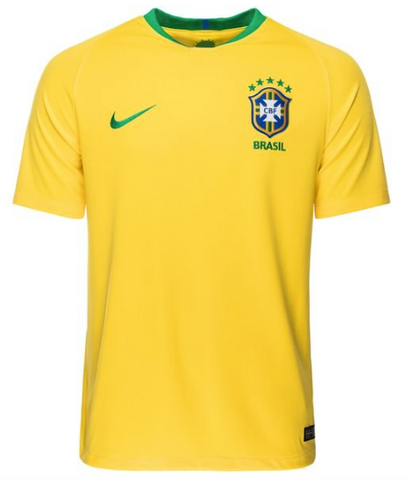 Brazil 2018 FIFA World Cup Youth Home Jersey