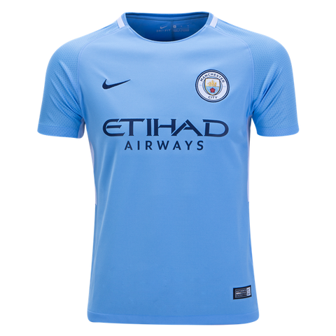 Nike Manchester City 17/18 Youth Home Jersey - We Are Soccer Inc.