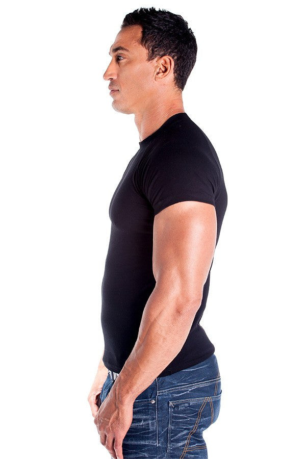 pitbull lycra fitted shirt men cotton stretch gym apparel work out tops