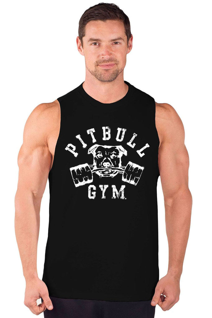 """Barbells"" Cut Sleeve Muscle Tee"