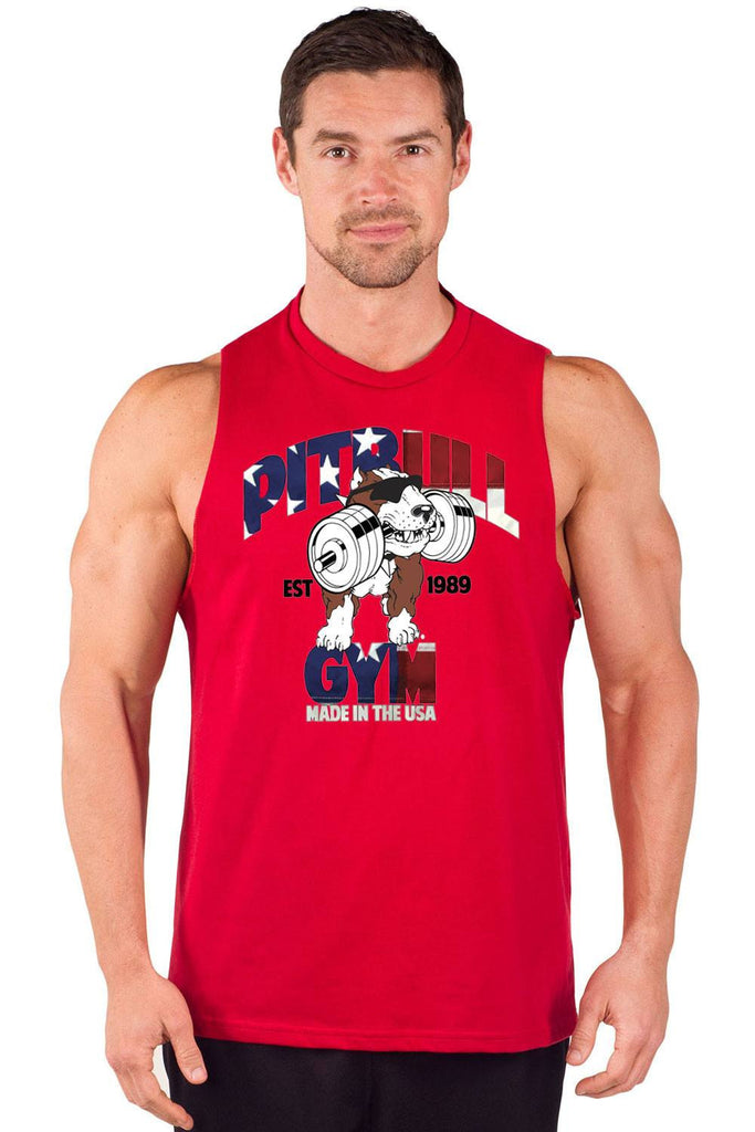 """Made in the USA"" Cut Sleeve Muscle Tank"