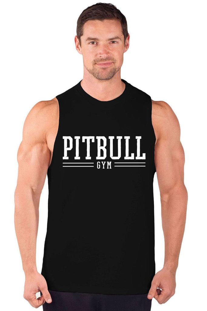 """Pitbull Gym Varsity"" Cut Sleeve Muscle Tee"