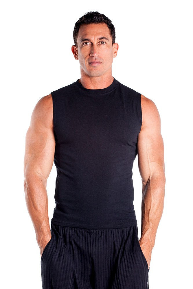 aaf4e9533f93d ... pitbull cotton lycra sleeveless tee men body building wear fitness gym  clothes clothing stretch black ...