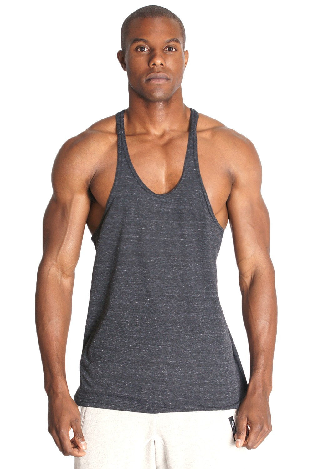 187834fba837f0 Triblend Fitness Stringer Y Back Tank - Pitbull Clothing