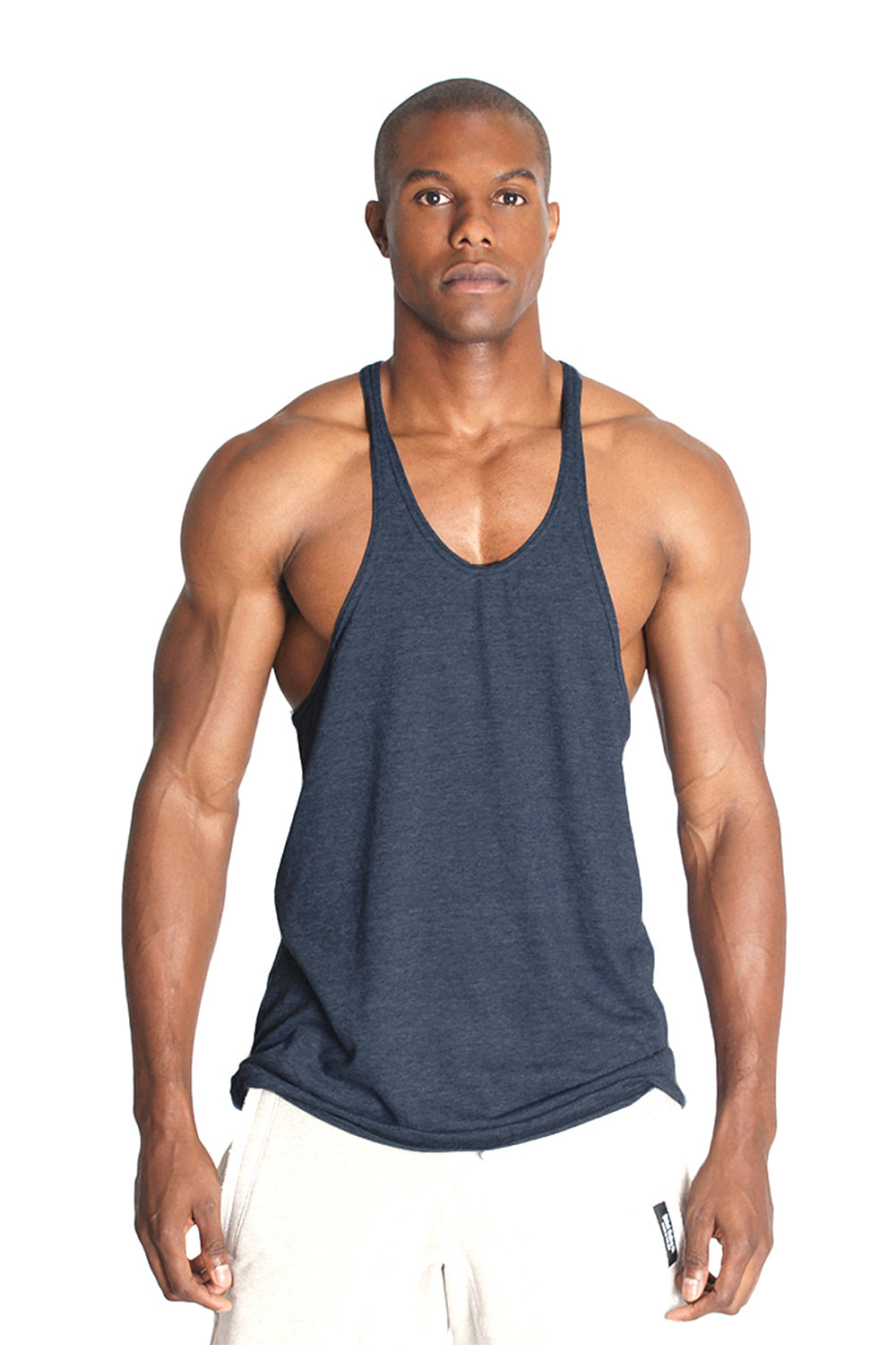 Triblend Fitness Stringer Y Back Tank