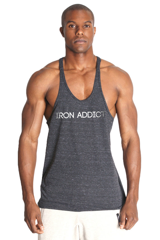 IRON ADDICT Triblend Stringer Tank Top