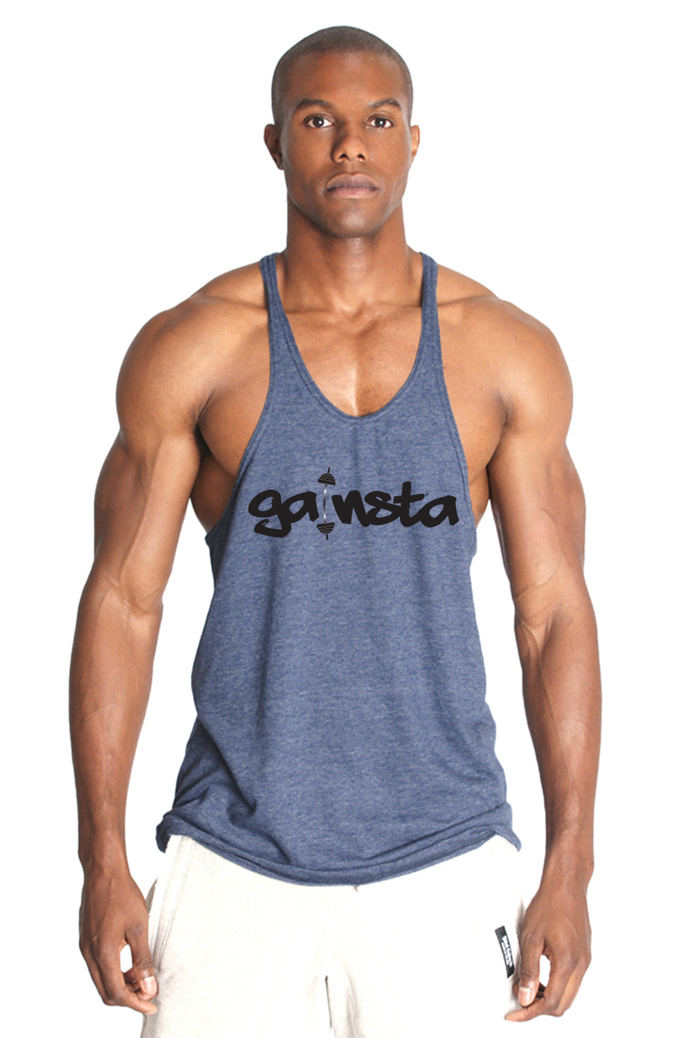 GAINSTA Triblend Stringer Tank Top