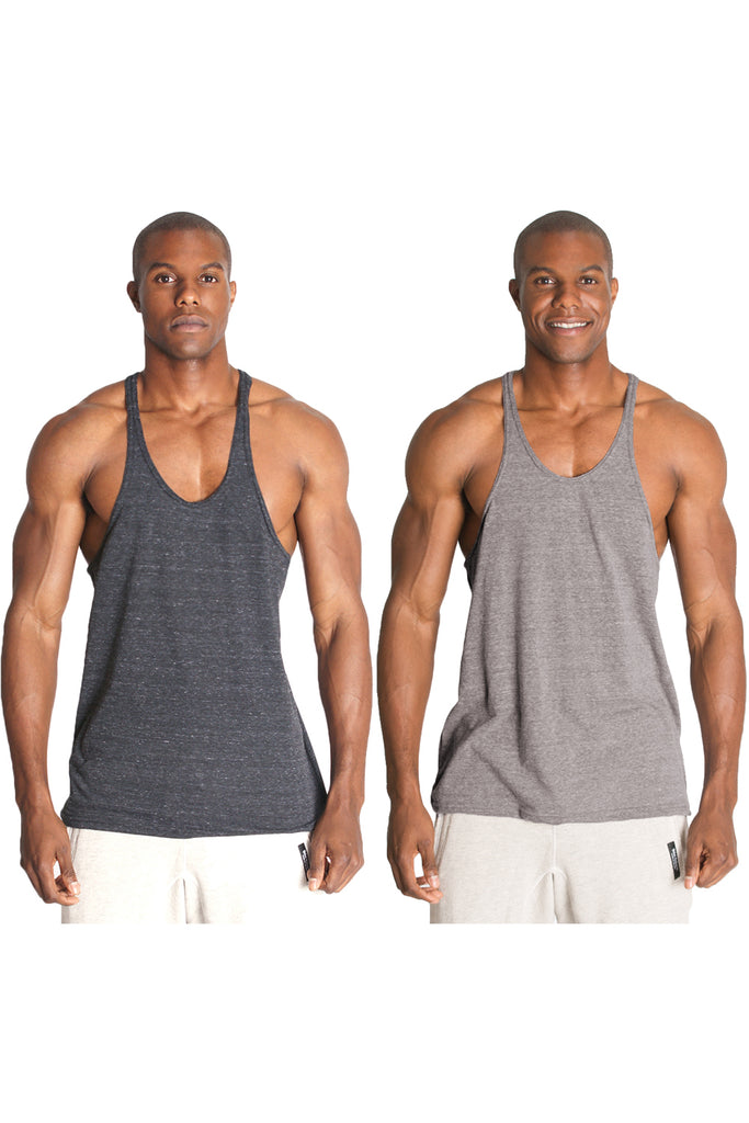 Multi Pack Triblend Stringer Tank Tops