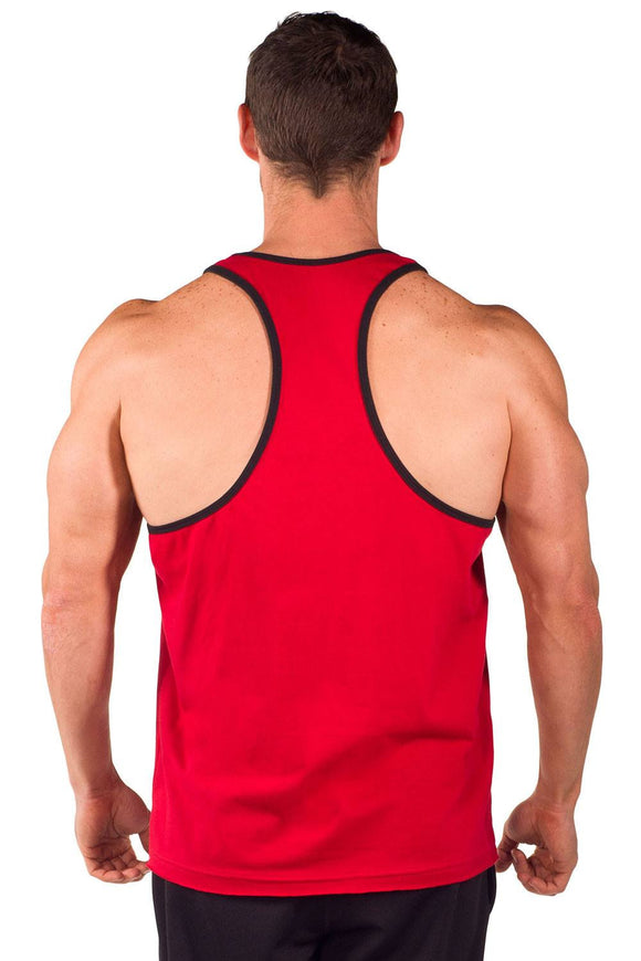 """Pitbull Gym Varsity"" Two-Tone Power Stringer Tank"