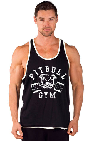 """Barbells"" Two-Tone Power Stringer Tank"