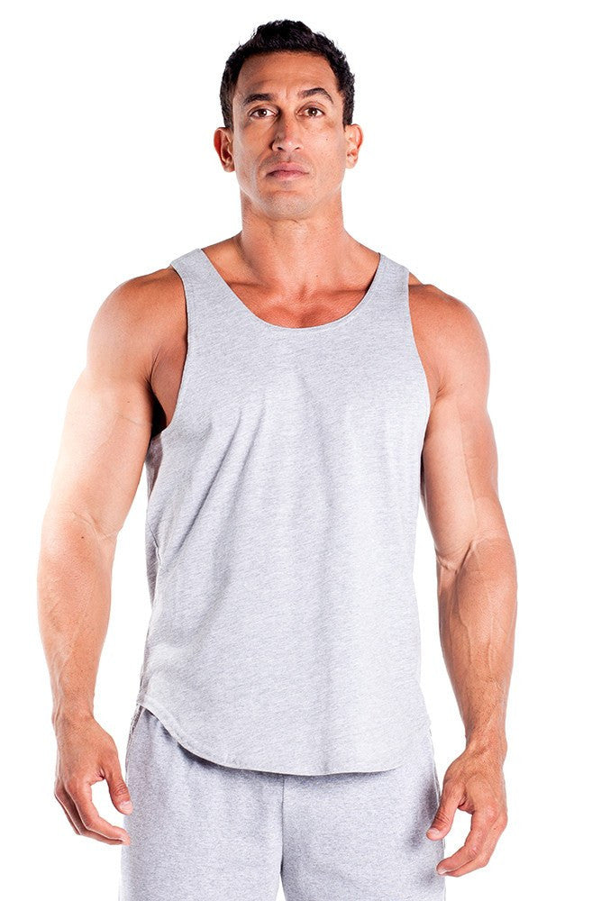 pitbull gym full cut workout tank top grey body lifting apparel gym clothes quality tops