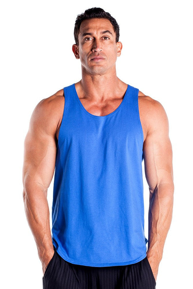 pitbull gym full cut workout tank top royal body lifting apparel gym clothes quality tops