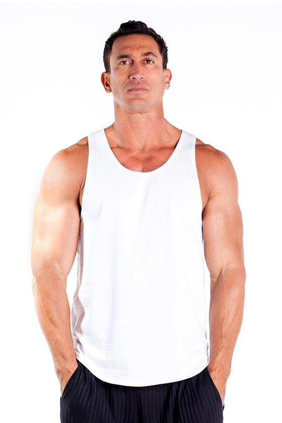pitbull gym full cut workout tank top white body lifting apparel gym clothes quality tops