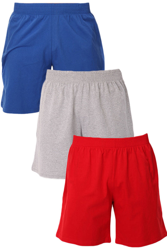 3 Pack Men's Jersey Pocket Shorts