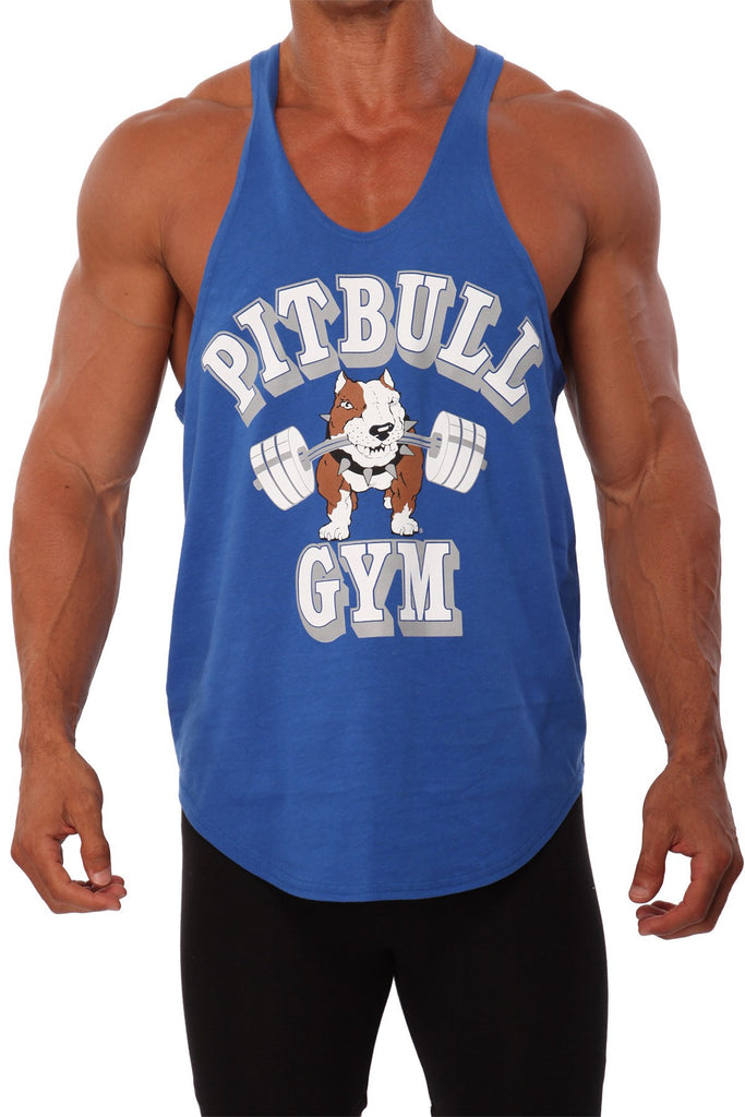 pitbull barbells stringer tank top royal fitness apparel gym weight lifting clothes