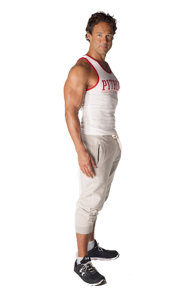 """Pitbull Gym"" Ribbed Workout Tank"