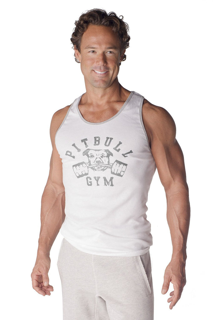 """Barbells"" Ribbed Workout Tank"