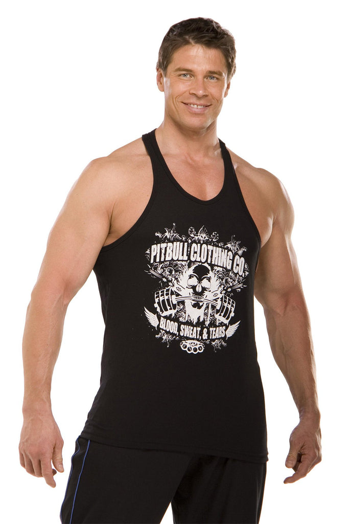 pitbull gym blood sweat tears tank top body lifting weight lifting