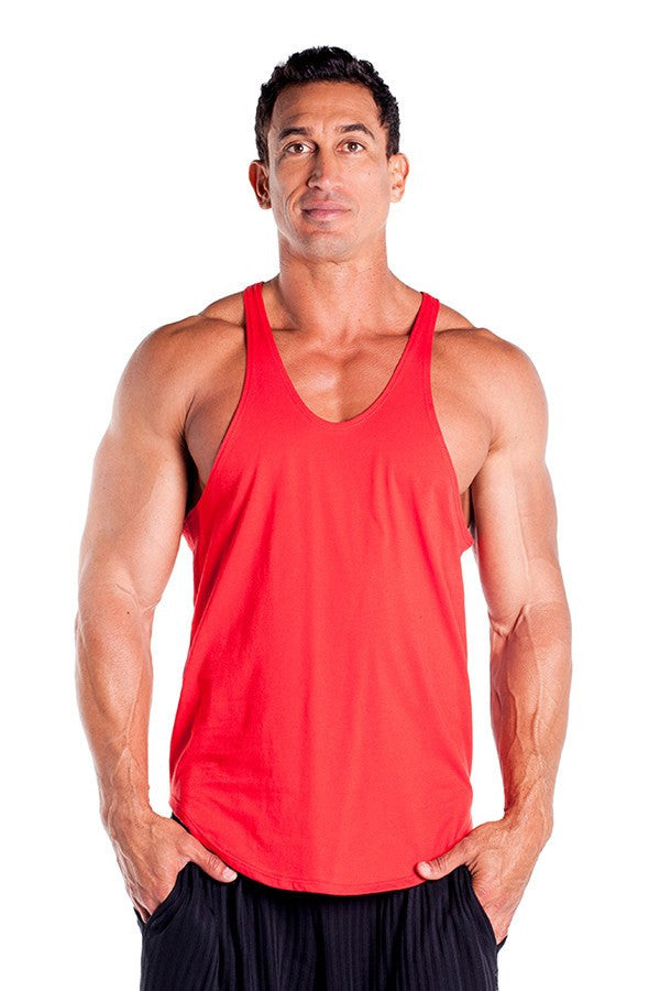pitbull stringer tank top red body builders body lifting clothes apparel gym fitness