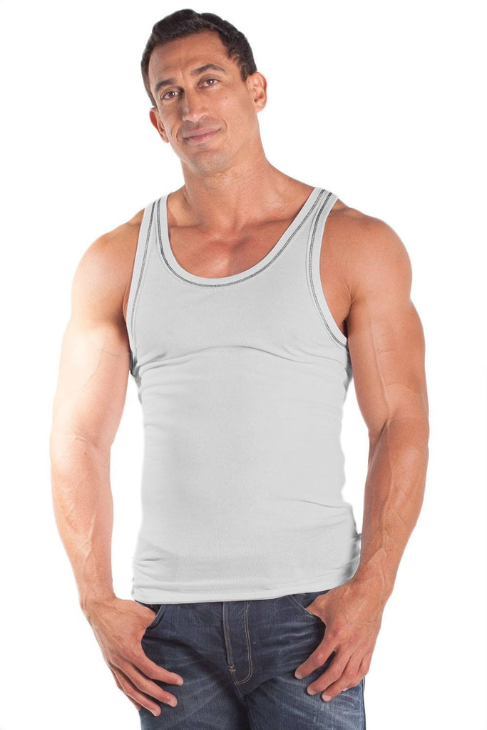 2 x 1 Contrast RIB Workout Tank