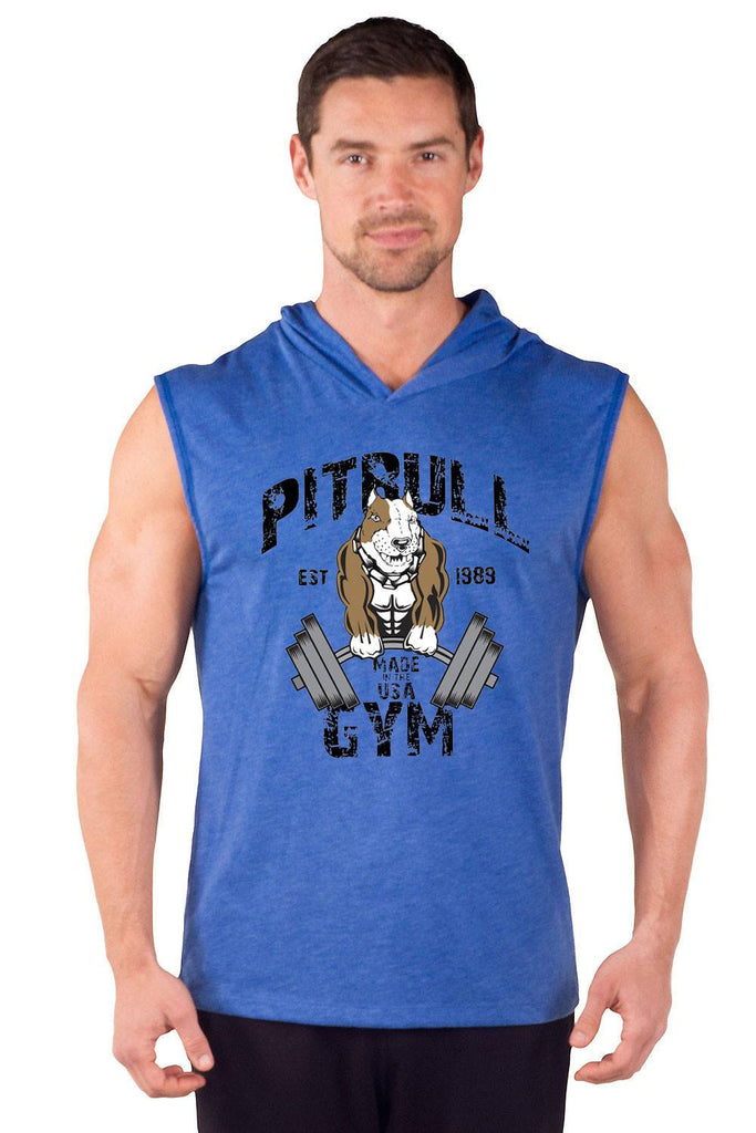 """Original Muscles"" Sleeveless Tri-Blend Hoodie"