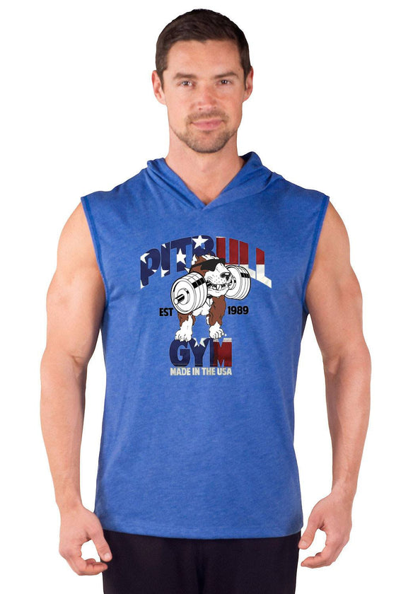 """Made in the USA"" Sleeveless Tri-Blend Hoodie"