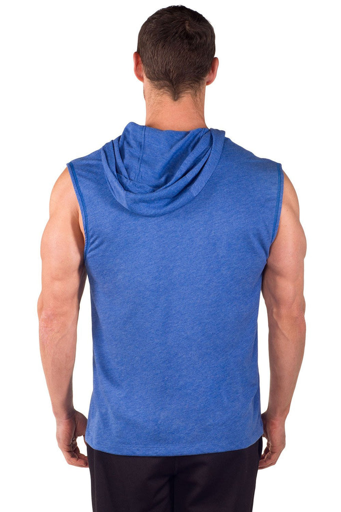 """Muscles"" Sleeveless Tri-Blend Hoodie"