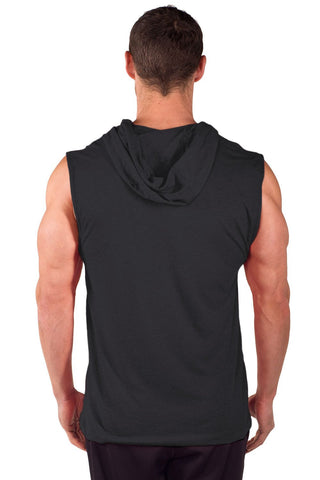 """Fit 4 Life"" Sleeveless Tri-Blend Hoodie"