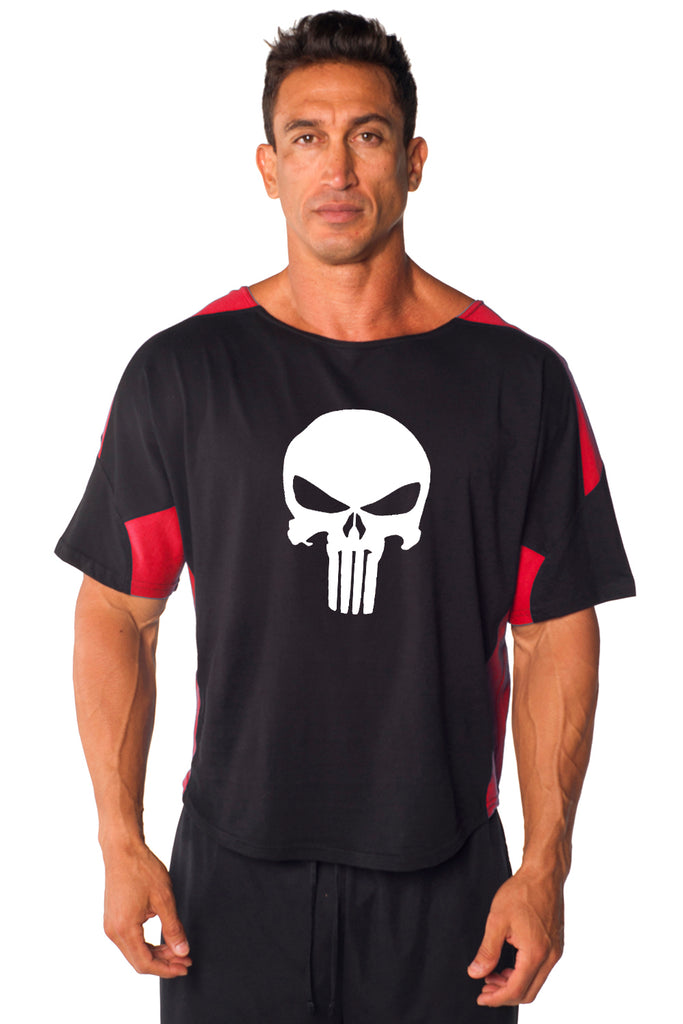 SKULL Two-Tone Vintage Jersey Ragtop