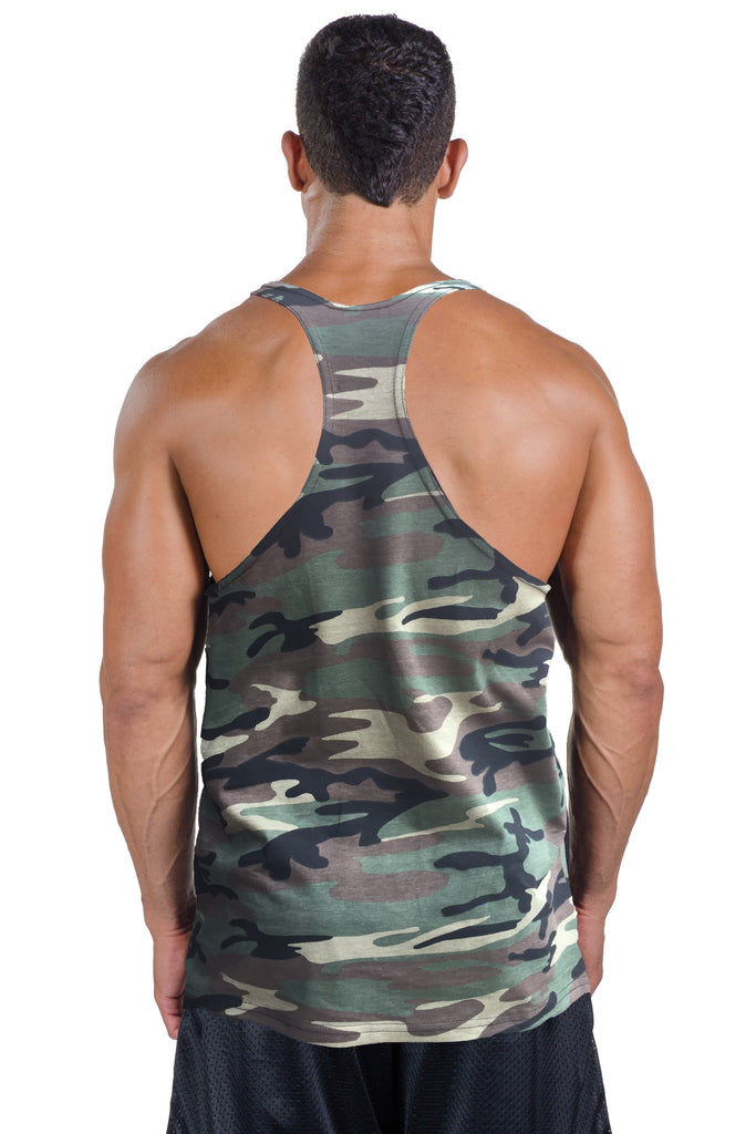 Camo Stringer Tank Top